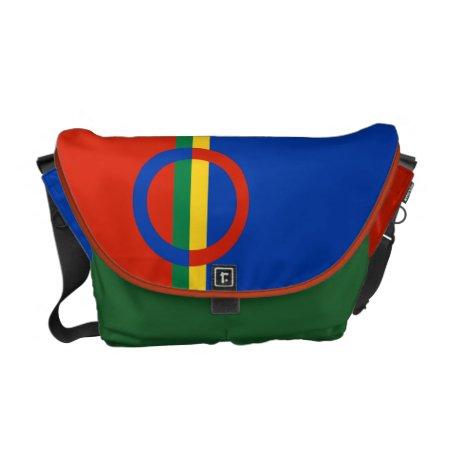 Nordic Circle On Color Stripe Messenger Bag