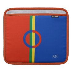 Nordic Circle Red Blue Ipad / Ipad2 Sleeve at Zazzle
