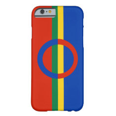 Nordic Circle Red Blue On Color Stripe Barely There Iphone 6 Case at Zazzle