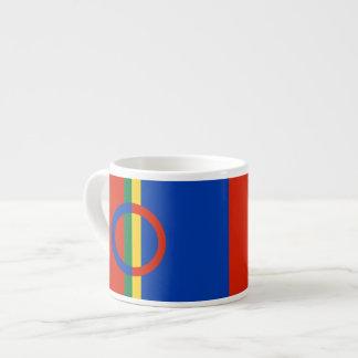 Nordic Circle Red Blue On Color Stripe Coffee Espresso Cup