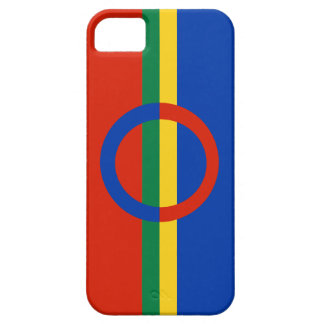 Nordic Circle Red Blue On Color Stripe iPhone 5 iPhone SE/5/5s Case