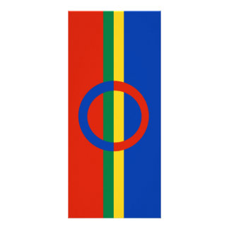Nordic Circle Red Blue On Color Stripe Rackcard Rack Cards