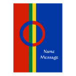 Nordic Circle Red Blue On Stripe Business Card