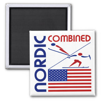 Nordic Combined United States Magnet