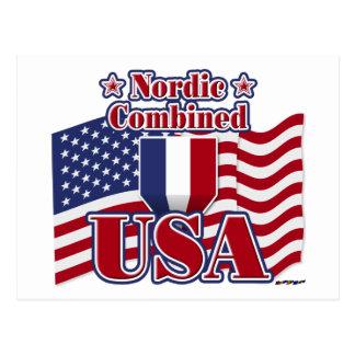 Nordic Combined USA Postcard