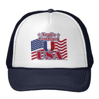 Nordic Combined USA Trucker Hats