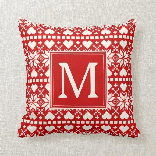 Throw Pillow Zazzle : Nordic Holiday Throw Pillow Zazzle