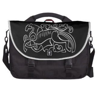 Nordic Horse black and white graphic inverted Bags For Laptop