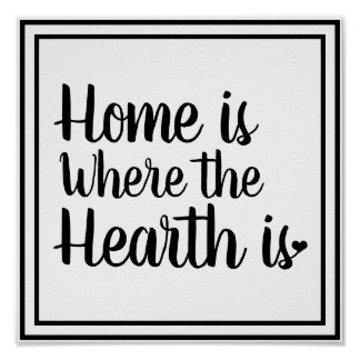 Nordic Hygge Style | Home is Where the Hearth Is Poster