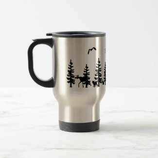 Nordic Hygge with forest and animals in black
