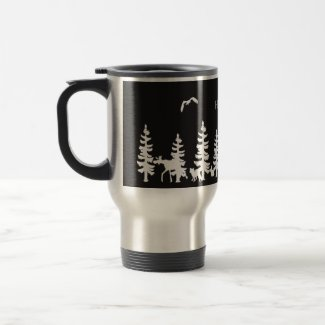 Nordic Hygge with forest silhouettes black white