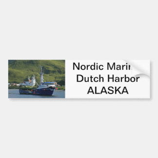 Nordic Mariner, Crab Boat in Dutch Harbor, AK Bumper Sticker