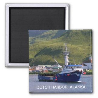 Nordic Mariner, Crab Boat in Dutch Harbor, AK 2 Inch Square Magnet