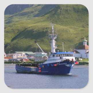Nordic Mariner, Crab Boat in Dutch Harbor, AK Square Sticker
