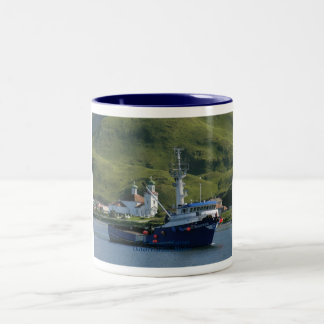 Nordic Mariner, Crab Boat in Dutch Harbor, AK Two-Tone Coffee Mug
