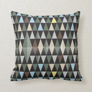 Nordic Nature | Colorful Black Pattern Design Pillow