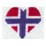 Nordic noruego Noruega de la puntada de la cruz de Tarjeta Postal
