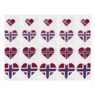 Nordic noruego Noruega de la puntada de la cruz Postal