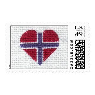 Nordic noruego Noruega Hj de la puntada de la cruz Sellos