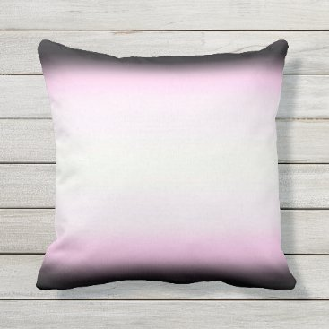 Beach Themed Nordic Pink Black|Pink|White Outdoor Pillow