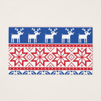 Nordic Reindeer and Snowflakes Business Card