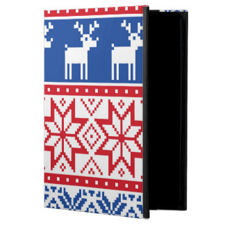 Nordic Reindeer and Snowflakes Cover For iPad Air