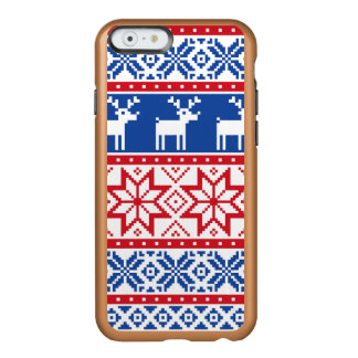 Nordic Reindeer and Snowflakes Incipio Feather Shine iPhone 6 Case