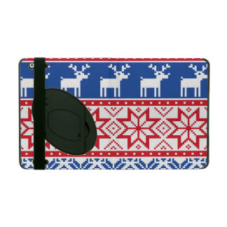 Nordic Reindeer and Snowflakes iPad Case