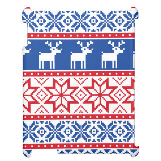 Nordic Reindeer and Snowflakes iPad Cover