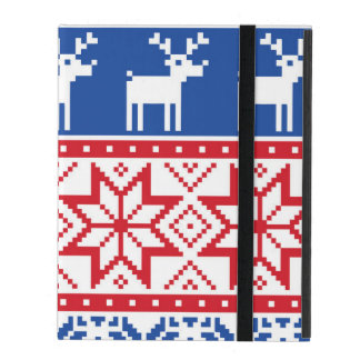 Nordic Reindeer and Snowflakes iPad Folio Case