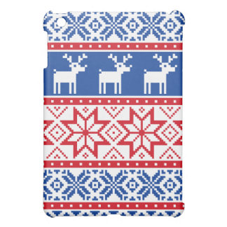 Nordic Reindeer and Snowflakes iPad Mini Cover
