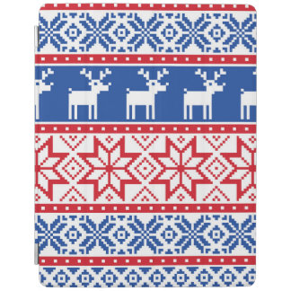 Nordic Reindeer and Snowflakes iPad Smart Cover