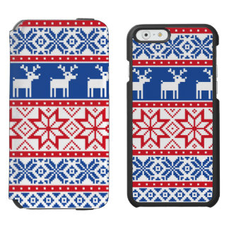 Nordic Reindeer and Snowflakes iPhone 6/6s Wallet Case