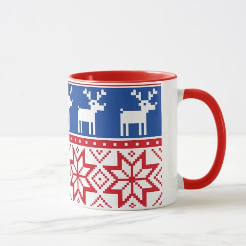 Reindeer and Snowflakes Mug