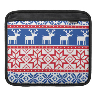 Nordic Reindeer and Snowflakes Sleeve For iPads
