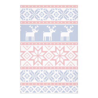 Nordic Reindeer and Snowflakes Stationery