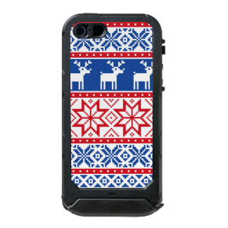 Nordic Reindeer and Snowflakes Waterproof Case For iPhone SE/5/5s