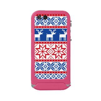 Nordic Reindeer and Snowflakes Waterproof iPhone SE/5/5s Case