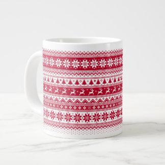 Nordic - Scandinavian Christmas Jumbo MugV2 Giant Coffee Mug