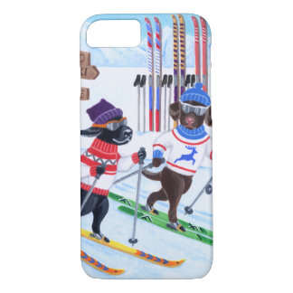 Nordic Skiing Labradors Painting iPhone 7 Case