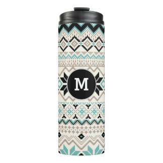 Nordic Snowflake Cross Stitch Sweater Pattern Thermal Tumbler