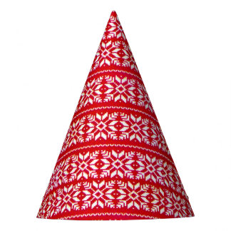 Nordic Snowflake Ugly Christmas Sweater Party Party Hat
