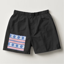 Nordic Snowflakes Christmas Pattern Boxers