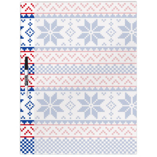 Nordic Snowflakes Christmas Pattern Dry-Erase Board