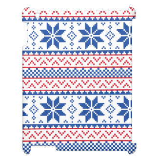 Nordic Snowflakes Christmas Pattern iPad Covers