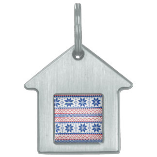 Christmas borders pet tags for dogs cats zazzle nordic snowflakes christmas pattern pet id tag sciox Choice Image