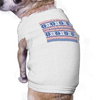 Nordic Snowflakes Christmas Pattern T-Shirt