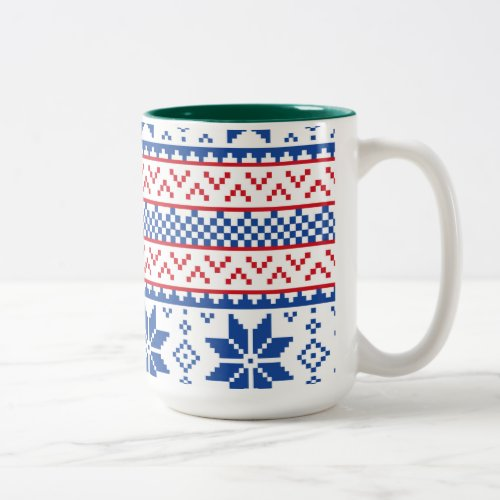 Nordic Snowflakes Coffee Mug