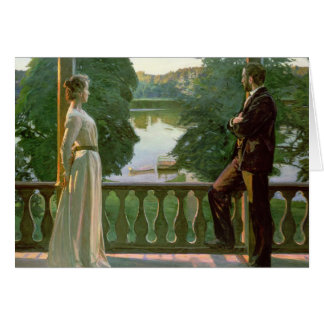 Nordic Summer Evening, 1899-1900 Greeting Card