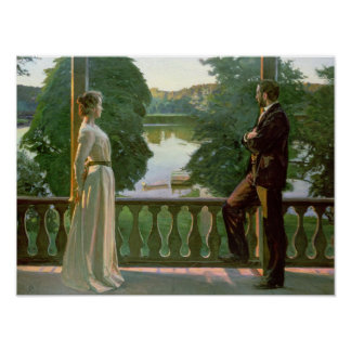 Nordic Summer Evening, 1899-1900 Poster